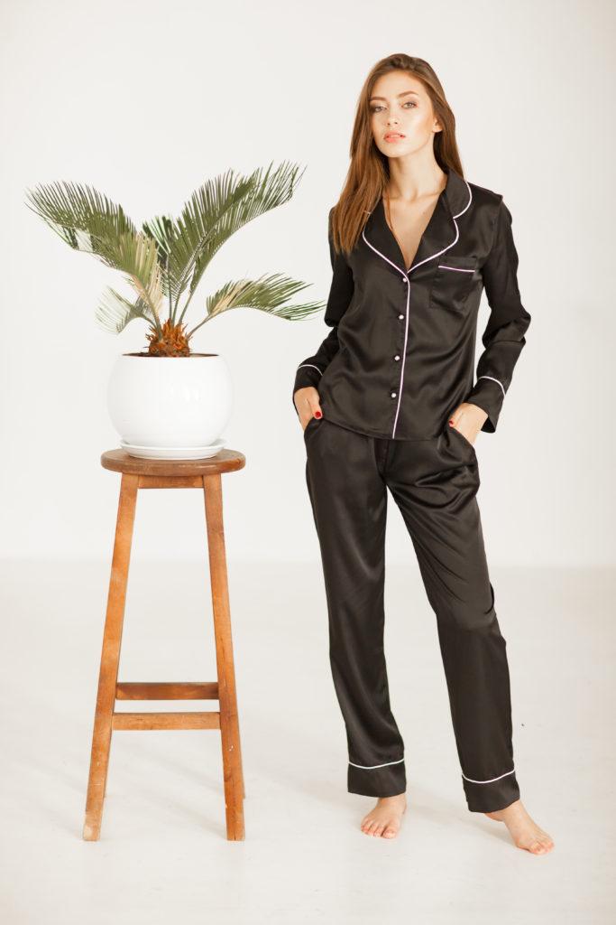 коричневая домашняя пижама на заказ